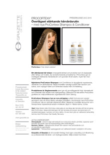 Pressrelease ProCortexx Shampoo och Conditioner