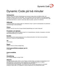 Dynamic Code på 2 minuter
