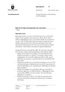 Regeringsbeslut om medel till förberedelsearbete för kortade väntetider
