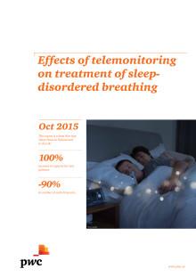 Rapport: Effekter av telemonitorering vid behandling av sömnrelaterad andningsstörning