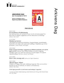 Arkivens Dag Program 2011