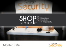 Gate Security på SHOP Nordic 2016, Kistamässan