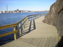 Vattennära promenad vid nya bryggvägen – Invigning