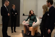 TRH The Duke and Duchess of Cambridge visited ArkDes, Sweden's national centre for architecture and design