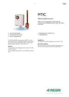 Produktblad för MTIC