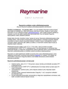 Raymarine esittelee uuden pilkkikalastussarjan