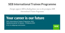 Navigio supports SEB in The SEB International Trainee Programme