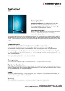 Faktablad - Hammerglass Enkel