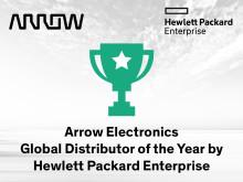 Arrow Electronics utsedda till Global Distributor of the Year av Hewlett Packard Enterprise