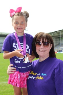 ​Survivors take a Step Out for Stroke in Warrington