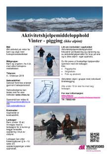Aktivitetshjelpemiddelopphold - vinter (pigging) for barn og unge