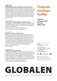 Onsdagskvällar på Globalen, februari 2014
