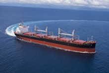 "TSUNEISHI SHIPBUILDING Delivers First ""TESS38"" Ship - Its 38,300-tonne Log and Bulk Carrier"