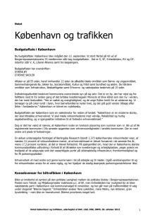 Notat København og trafikken