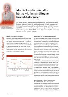 Professor Eva Munch-Wikland: Risken för orofaryngeal cancer ökar med tidig sexdebut, ASCO 2012