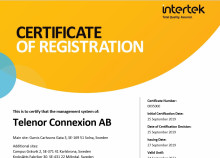 Telenor Connexion achieves ISO 27001 certification