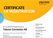 Telenor Connexion achieves ISO 27001 certification