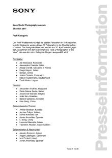 Shortlist SWPA 2017