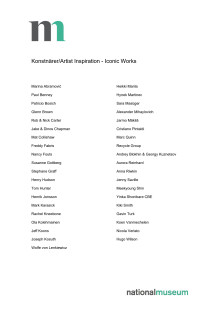 Lista med konstnärer Inspiration - Iconic Works