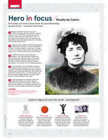 """N by Norwegian"" - Hero in focus: Rosalía de Castro"