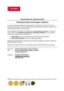 Descarrega convocatòria: aeroport de Palma (dimarts 10 de maig, 11 del matí).