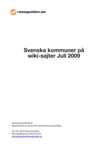 Sveriges småkommuner missar miljontals turister - Hela rankinglistan 2009