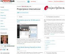 Projectplace nominerad till Årets Pressrum 2010