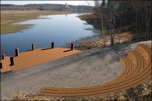 Nu ska den byggas - amfiteaterscenen vid Lindessjön