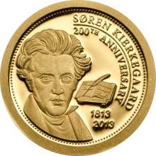 Søren Kierkegaards 200-års jubilæum markeres med mindesmønter