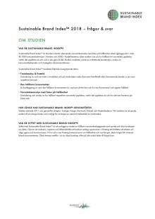 Frågor & svar om Sustainable Brand Index
