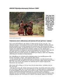 UNICEF i Vietnam via Mjukdjurskampanjen