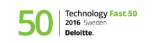 Q-channel AB plats nr 6 i Deloitte Sweden Technology Fast 50