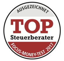 """Wir sind ausgezeichnet.............FOCUS-MONEY Test 2017 sagt: """"Top Steuerberater"""""""