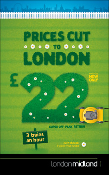 London Midland cuts fares to London by up to 40%