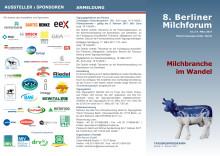 """Programm: 8. Berliner Milchforum """"Milchbranche im Wandel"""""""