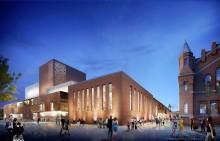 Feierliche Grundsteinlegung für Theaterbauten Kraftwerk Mitte in Dresden