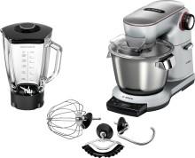 Alsidig køkkenmaskine med indbygget vægt fra Bosch