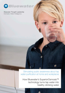 Bluewater releases thought-provoking paper on the future of drinking water purification