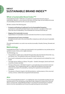 About Sustainable Brand Index 2015
