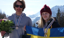 Jennie Lee och Oliwer tog JVM-silver i slopestyle