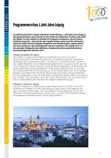 1000 Jahre Leipzig - Programmhighlights