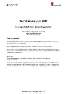 Dansk erhvervsliv - Regnskabsanalysen 2017 - byggeri