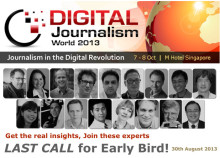 Digital Journalism World 2013 - LAST CALL for Early Bird!