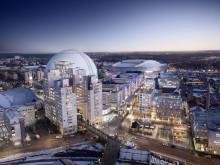 Dreem arkitekter är med och utvecklar området kring Globen i Stockholm