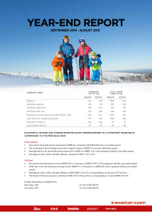 SkiStar Year-end report fort 2014-15