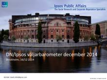DN/Ipsos väljarbarometer december 2014 - Val idag skulle ge ungefär samma riksdag