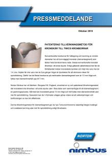 Nya borrkronor från Nimbus - Patenterad tillverkningsmetod