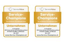 Service-Champions 2017 in Österreich und der Schweiz gekürt