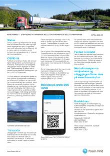 Nyhetsbrev transporter 2020 Kvenndalsfjellet og Harbaksfjellet vindparker