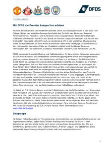 Faktenblatt Fußballreisen zur Premier League Saison 2017/2018